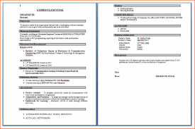 Job Resume It by Profile Title For Fresher Resume Resume For Your Job Application