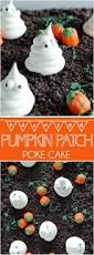 haunted pumpkin patch poke cake something swanky