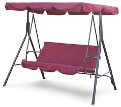 Outdoor Lounge Chair With Canopy Outdoor 3 Person Swing Canopy Hammock Seat Patio Deck Furniture