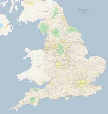 Map Of England And Ireland by Ley Lines