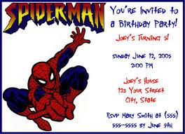40th birthday ideas free printable spiderman birthday invitation