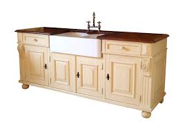 Free Standing Kitchen Cabinets Prague Style Freestanding Double Butler Sink Unit With Black