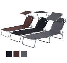 Metal Reclining Garden Chairs Foldable Metal Garden U0026 Patio Reclining Loungers Ebay