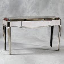 glass mirrored console table venetian antiqued glass mirrored console table