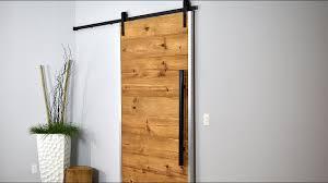 Pine Barn Door by How I Made My Sliding Barn Door Rustic Modern Youtube