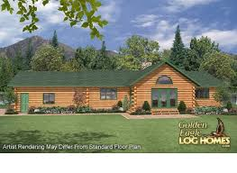ranch style log home floor plans golden eagle log and timber homes floor plan details golden ranch