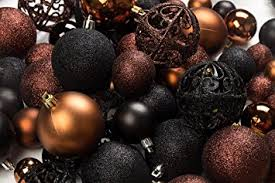 100 brown and black ornament balls