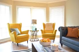 Yellow Living Room Chairs - Colorful living room chairs