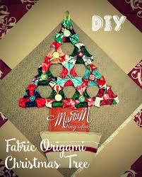 diy fabric origami christmas tree motherhood today
