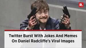 Memes On - twitter burst with jokes and memes on daniel radcliffe s viral