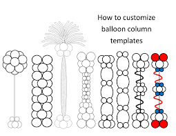 7 balloon column template for publisher and how to color them in