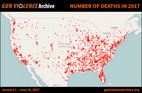 chicago map shootings steve scalise 154 mass shootings 6 886 gun deaths in 2017