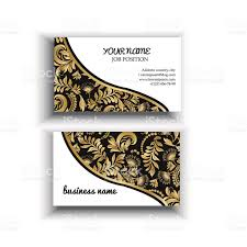 gold and black background floral templates for business card stock