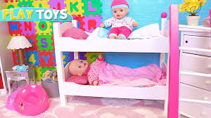 Play Bunk Beds Play Baby Born Dolls Hide And Seek In Wardrobe In Nursery Room