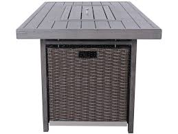 Rectangle Fire Pit Table Outdoor Patio Monterey Outdoor Gas Fire Pit Table