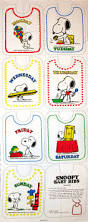 Snoopy Shower Curtain by Snoopy Baby Bib Pattern Set 7 Days Of The Week Snoopn4pnuts Com