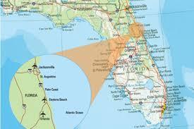 florida towns map map of florida east coast towns map