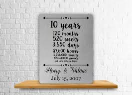 10 year anniversary gift ideas for 50 awesome aluminum gift ideas 10th wedding anniversary wedding