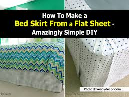how to make a bed skirt from a flat sheet amazingly simple diy