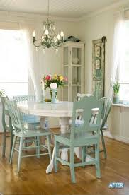 shabby chic dining room table and chairs 3249