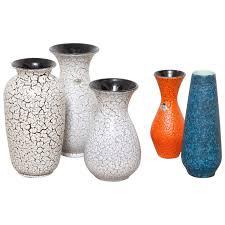 group of modernist jasba craquelé ceramic vases for sale at 1stdibs