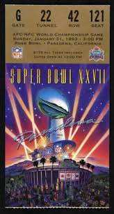 lot detail 1993 super bowl xxvii dallas cowboys vs buffalo