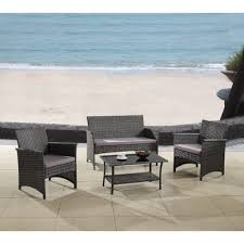 Madison Outdoor Furniture by Madison Home Usa Modern Outdoor Garden Patio 4 Piece Seating Group