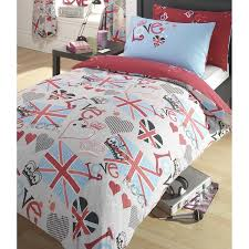 love rock union jack duvet cover u0026 pillowcase set amazon co uk