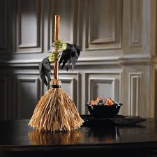 tabletop motorized dancing witch u0027s broom the green head