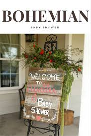 bohemian baby shower bohemian baby shower welcome sign pinteres