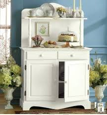 White Kitchen Buffet Cabinet White Buffet With Two Door Hutch And - Kitchen buffet cabinets