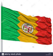 California State Flag Los Angeles City Flag On Flagpole California State Flying In The