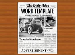 Newspaper Book Report Template Editable Tabloid Newspaper Cover Flyer Templates On Creative Market