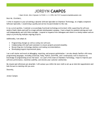 Examples Of Customer Service Cover Letters Best Software Specialist Cover Letter Examples Livecareer