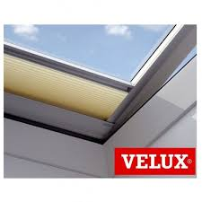 velux fmg electric pleated blind 1259 cream to fit 060060 inc