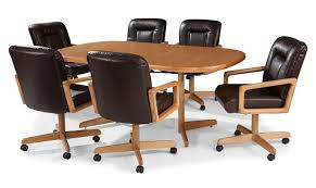 Rolling Dining Chairs Dining Room Chairs With Wheels And Arms - Dining room chairs with rollers