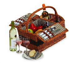 picnic gift basket plus largo 2 person wicker picnic basket
