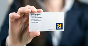 student business card free business cards alumni association of the of michigan