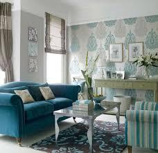 Living Room Design Blue Tips Memilih Wallpaper Ruang Tamu Http Www Rumahidealis Com
