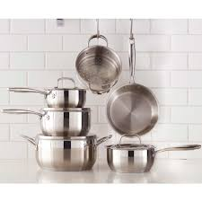 batterie cuisine en 11 stainless steel cookware set paderno