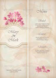 wedding menu template floral decorative wedding menu template design by kostins