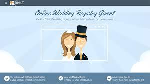 wedding website registry given2 online wedding registry money into your bank account