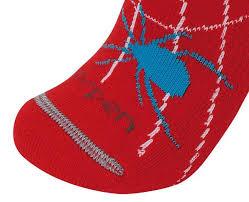 Kids Wool Socks Lorpen Merino Kids Ski Socks Spidey Red Kids Clothing Lorpen