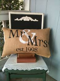 mr and mrs pillow personalized pillow valentines gift wedding
