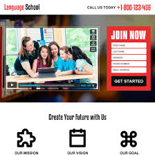 best education video landing page design to capture leads