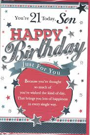 21 birthday card design son 21st birthday card you re 21 son happy birthday modern