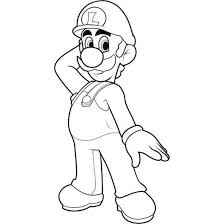 coloring pages super mario bros wii boys coloring pages