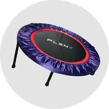 Mini Trampoline With Handrail Amazon Com Pleny 38