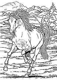 running horse coloring page for kids animal coloring pages