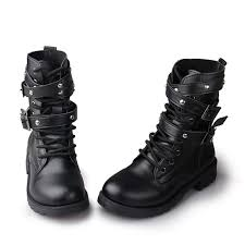 womens motorcycle boots uk motorcycle boots fashion buckle martin boots pu leather